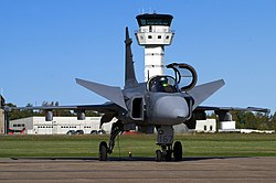 Saab JAS-39 Gripen of the Swedish Air Force at F 7 Såtenäs (4441539486).jpg