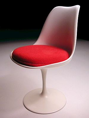 Mid-century modern - Tulip chair (designed 1955–56) by Eero Saarinen