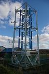 左:ダリウス型風力発電機右:ジャイロミル型発電機(北海道稚内市)