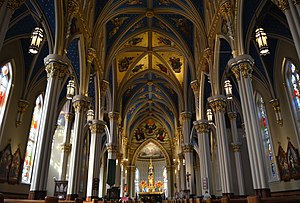 Basilica of the Sacred Heart, Notre Dame - Nave and vaulted ceiling