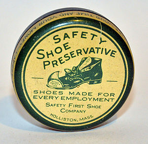 Goodwill Shoe Company - Early 20th century tin of Safety Shoe Preservative