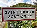 Saint-Brieuc (Côtes d'Armor) panneau d'agglomération.jpg
