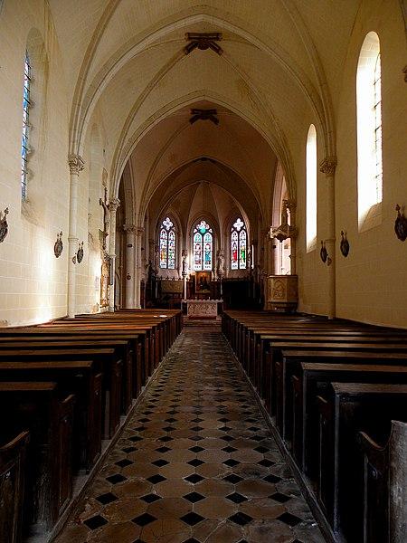 L'église Notre-Dame-de-l'Assomption, lieudit Mégaudais, commune de Saint-Pierre-des-Landes (53). Intérieur.