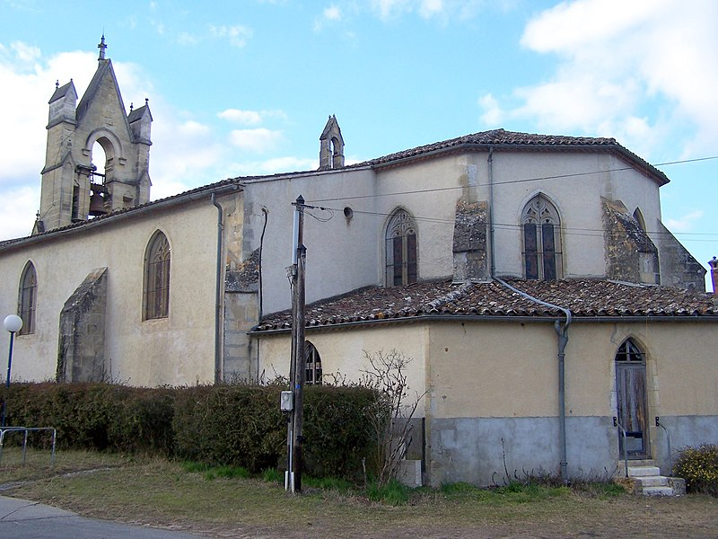 Apsis of the church of Saint-Symphorien (Gironde, France)