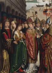Saint Rumbold Taking Leave of his Parents