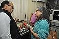 Samarendra Kumar Demonstrating 3D Print To Shefali Shah - NCSM HQ - Kolkata 2017-12-14 6458.JPG