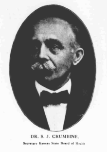 Newspaper photo of Dr. Crumbine, published in 1921. Samuel Jay Crumbine newspaper photo.png