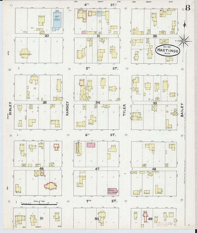 File:Sanborn Fire Insurance Map from Hastings, Dakota County ... on