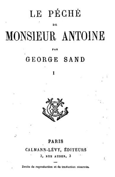 File:Sand - Le Péché de Monsieur Antoine, Pauline, L'Orco, Calman-Lévy, 18xx, tome 1.djvu