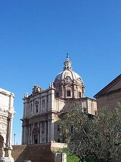 Santi Luca e Martina church building in municipio I, Italy