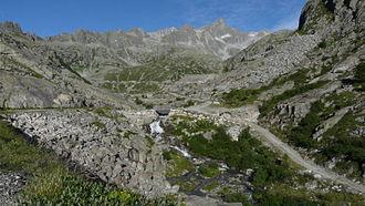 Sarca - The source of the Sarca River, high in the Adamello-Presanella Alps