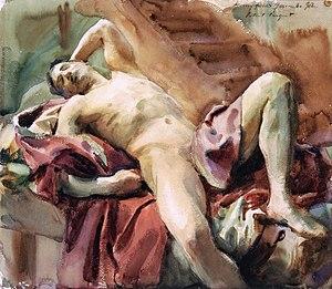 Figure study - Image: Sargent, John Singer (1856 1925) ritratto di Nicola D'Inverno (1892)