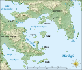 Saronic Gulf map-fr.svg