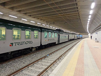 Trenord - Image: Saronno Sud staz ferr linea S9