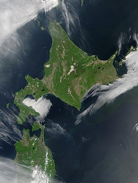 Satellite image of Hokkaido, Japan in May 2001.jpg