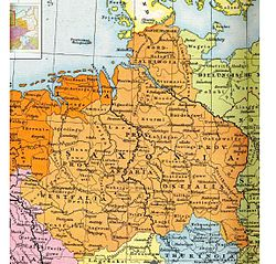 The later stem duchy of Saxony (circa 1000 AD), which was based in the Saxons' traditional homeland bounded by the rivers Ems, Eider and Elbe