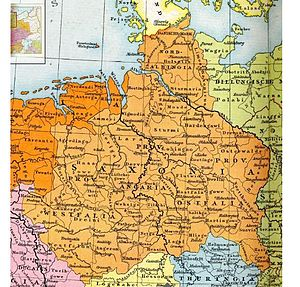 Old Saxony - The later stem duchy of Saxony (circa 1000 CE), which was based in the Saxons' traditional homeland bounded by the rivers Ems, Eider and Elbe
