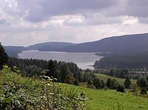 Southern Black Forest - The Schluchsee in the eastern part of the Southern Black Forest