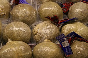 Haggis displayed for sale