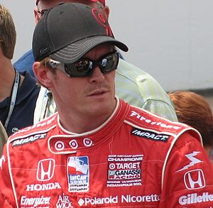Scott Dixon at the Indianapolis Motor Speedway...