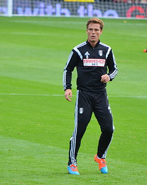 Scott Parker - Parker warming up for Fulham in 2014