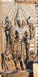Sculpture of Jaya, guardian to the entrance of the sanctum of Vishnu in Chennakeshava temple at Belur.jpg
