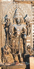 Sculpture of Jaya, guardian to the entrance of the sanctum of Vishnu in Chennakeshava temple at Belur