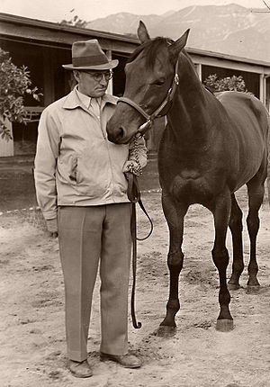 Suffolk Downs - Seabiscuit and trainer Tom Smith