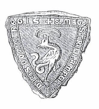 Hermán (genus) - Seal of Lampert Hermán (1314)