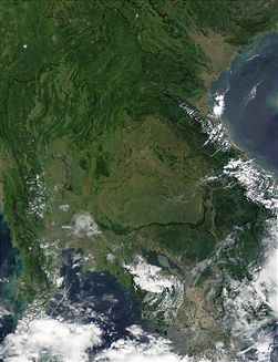 Seasonal flooding in Thailand and Cambodia 2002 October 9.jpg