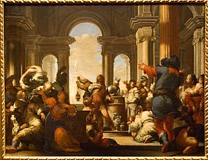 Sebastiano Mazzoni - Baroque Sacrifice of Jephthahs Daughter (1650), Nelson Atkins Museum