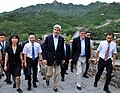 Secretaries Kerry, Lew Tour Badaling Section of Great Wall of China (14416784789).jpg