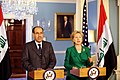 Secretary Clinton Holds Bilarteral Meeting with Iraqi Prime Minister (3764262098).jpg