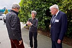 Secretary Kerry Chats With Dr. Kelly Falkner, Director of the National Science Foundation's Polar Programs Division, Outside the International Antarctic Center in Christchurch, New Zealand (30594588270).jpg