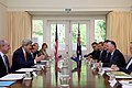 Secretary Kerry Meets With Ambassador Gilbert and New Zealand Prime Minister Key in Wellington (30905998316).jpg