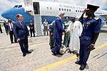 Secretary Kerry Shakes Hands With Nigerian Ministry of Foreign Affairs Officials Nnamdi Azikiwe International Airport in Abuja (28558936053).jpg