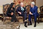 Secretary Kerry Speaks With Former Secretaries of State Rice and Baker in Riyadh.jpg