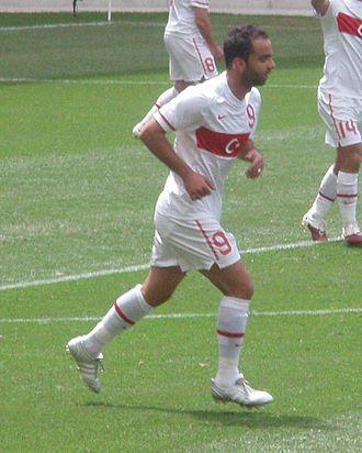 Semih Şentürk - Semih Şentürk playing for the Turkish National Football Team