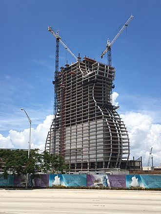 Seminole Hard Rock Hotel & Casino Hollywood - Construction work in progress, June 2018