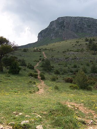 Serra Mariola Natural Park - Path to the Montcabrer