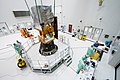 Sentinel-2A satellite - CSG - Carefully aligning the satellite to the adapter.jpg
