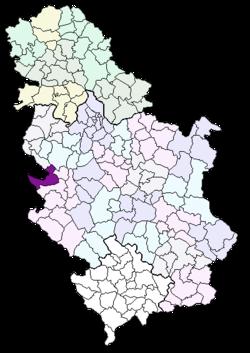 mapa srbije bajina basta Bajina Bašta (općina) – Wikipedija mapa srbije bajina basta