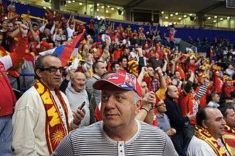 Macedonia national handball team - Image: Serbian and Macedonian fans