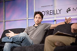 Sergey Brin - Sergey Brin in 2005 at the Web 2.0 Conference