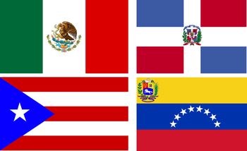Flag of Mexico, Dominican Republic, Puerto Ric...