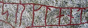 Serkland - srklant on the Tillinge Runestone raised in memory of a Varangian who did not return from Serkland, at the church of Tillinge in Uppland, Sweden.