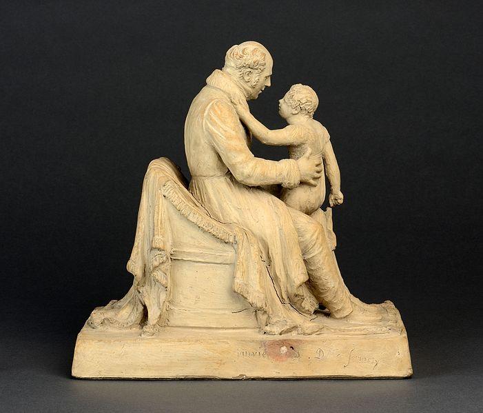 File:Sermezy Clémence Sophie Sermézy (de), Homme tenant une fillette sur ses genoux Vue 2.jpg