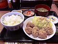 Set meal with fried chicken of Nakau.JPG