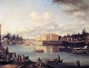 Kamenny Island Palace - Semyon Shchedrin's view of the Kamenny Island estate (1803)