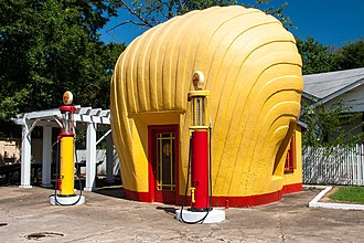 Shell Service Station (Winston-Salem, North Carolina) - This Shell Service Station is the only one to survive today from a total of eight built in the Winston-Salem area